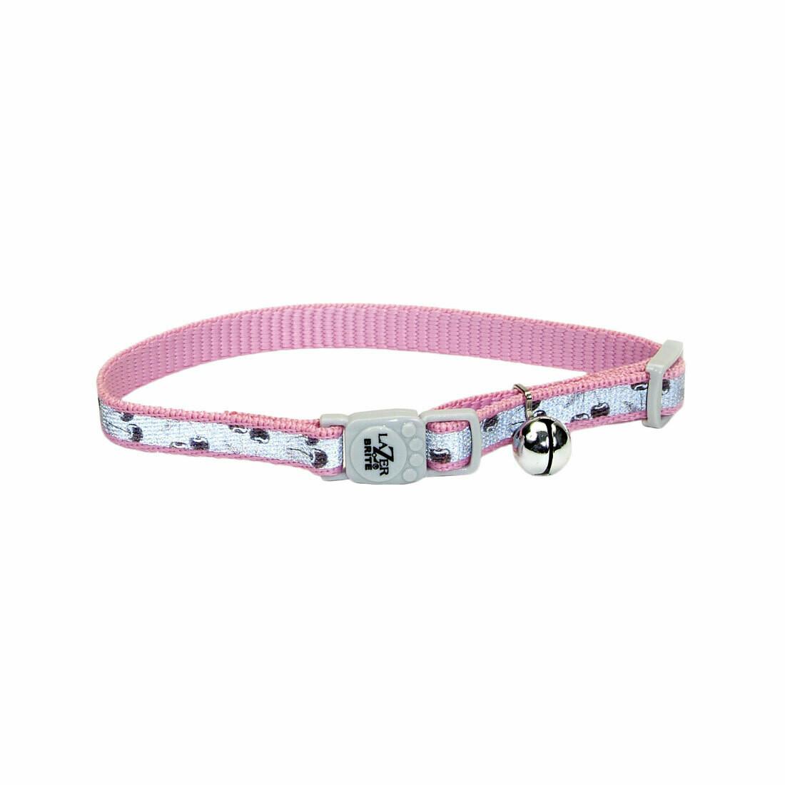 Lazer Brite Cat Collar - Pink Cherries
