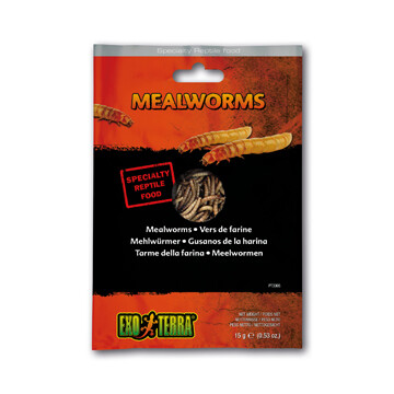 EXO TERRA VACUUM PACKED MEALWORMS 15g