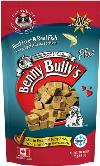 BENNY BULLY'S PLUS FISH FOR CATS - 25g