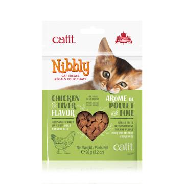 CATIT NIBBLY CAT TREATS CHICKEN LIVER 90g