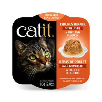 Catit Chicken Dinner with Beef & Pumpkin 2.8oz