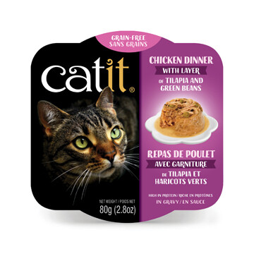 Catit Chicken Dinner with Tilapia & Green Beans 2.8oz