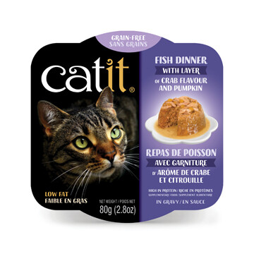 Catit Fish Dinner with Crab & Pumpkin 2.8oz
