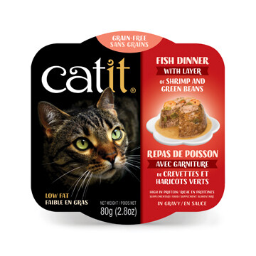 Catit Fish Dinner with Shrimp & Green Beans 2.8oz
