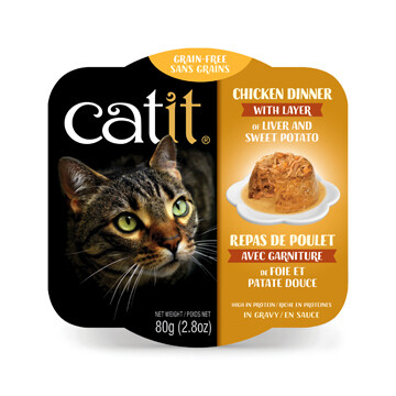 Catit Chicken Dinner with Liver & Sweet Potato 2.8oz