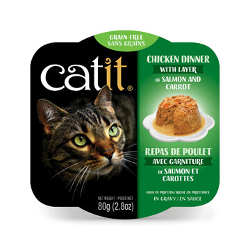 Catit Chicken Dinner with Salmon & Carrot 2.8oz
