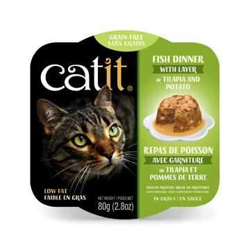 Catit Fish Dinner with Tilapia & Potato 2.8oz