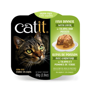Catit Fish Dinner with Tilapia & Potato 2.8oz