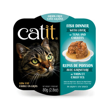 Catit Fish Dinner with Tuna & Carrots 2.8oz