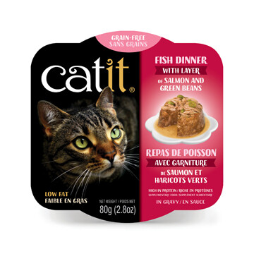 Catit Fish Dinner with Salmon & Green Beans 2.8oz