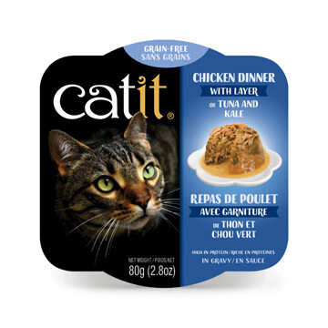 Catit Chicken Dinner with Tuna & Kale 2.8oz