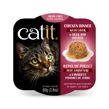 Catit Chicken Dinner with Duck & Potato 2.8oz