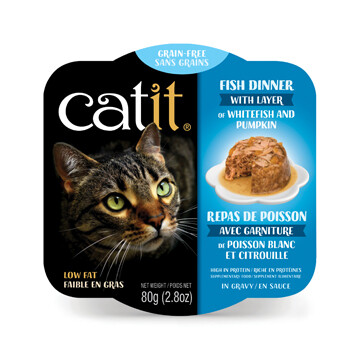 Catit Fish Dinner with Whitefish & Pumpkin 2.8oz