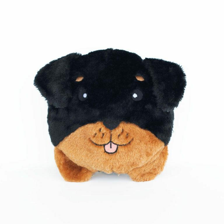 ZippyPaws Squeakie Bun Rottweiler