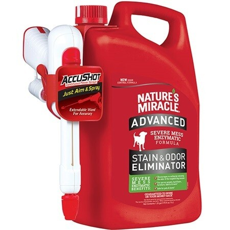 NATURE'S MIRACLE ADVANCED STAIN & ODOUR REMOVER ACCUSHOT 5L