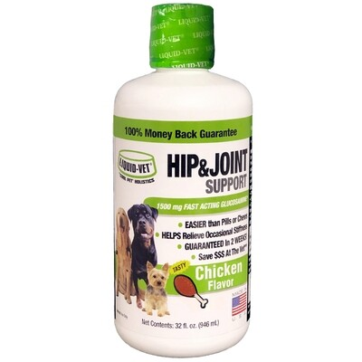 LIQUID-VET 32OZ HIP & JOINT SUPPORT CHICKEN FLAVOUR