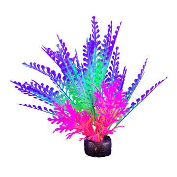 "Marina I-Glo Plant 5.5"" Purple/Green Fern"