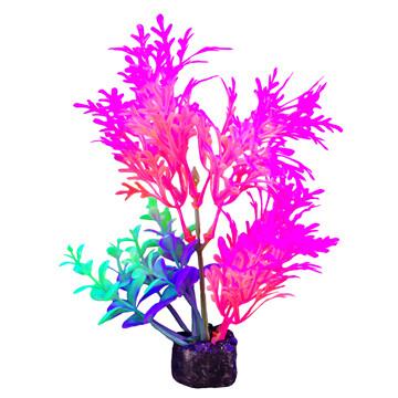 """Marina I-Glo Plant 5.5"""" Pink/Orange Fern"""