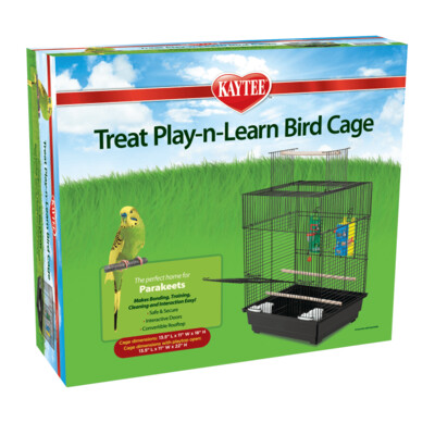 Kaytee Parakeet Treat Play-n-Learn Cage