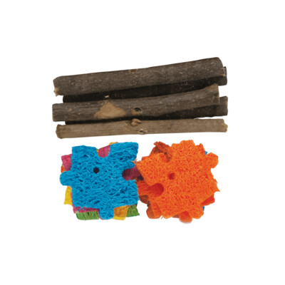 Kaytee Apple Wood Puzzle Chew