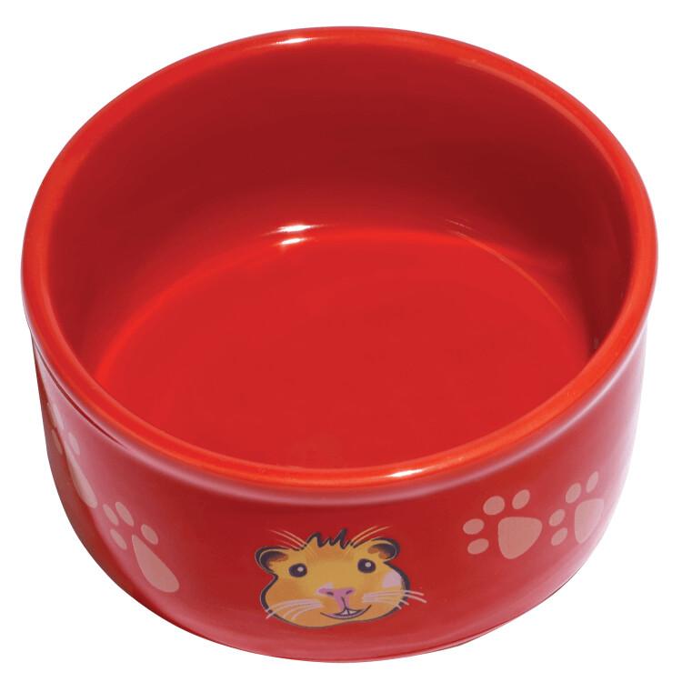 """Kaytee Paw-Print PetWare Guinea Pig Dish 4.25"""""""