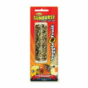 Higgins Sunburst Treat Sticks Veggie & Fruit (Small Hookbill)