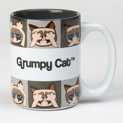 Petrageous Mug Grumpy Cat Grey