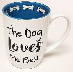 Petrageous Mug The Dog Loves Me Best White