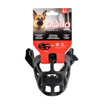 ALPHA BY ZEUS DOG MUZZLE - L