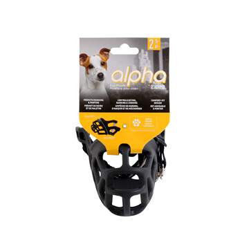 ALPHA BY ZEUS DOG MUZZLE - S