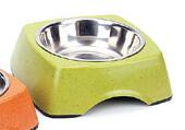 BooBowl Green Square Bowl Small