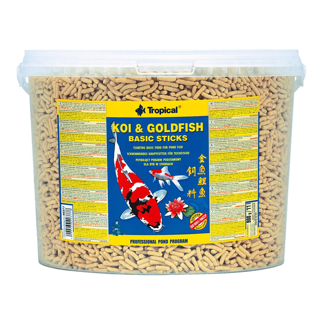 Tropical Koi & Goldfish Basic Sticks 900g