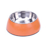 BooBowl Orange Round Bowl Small
