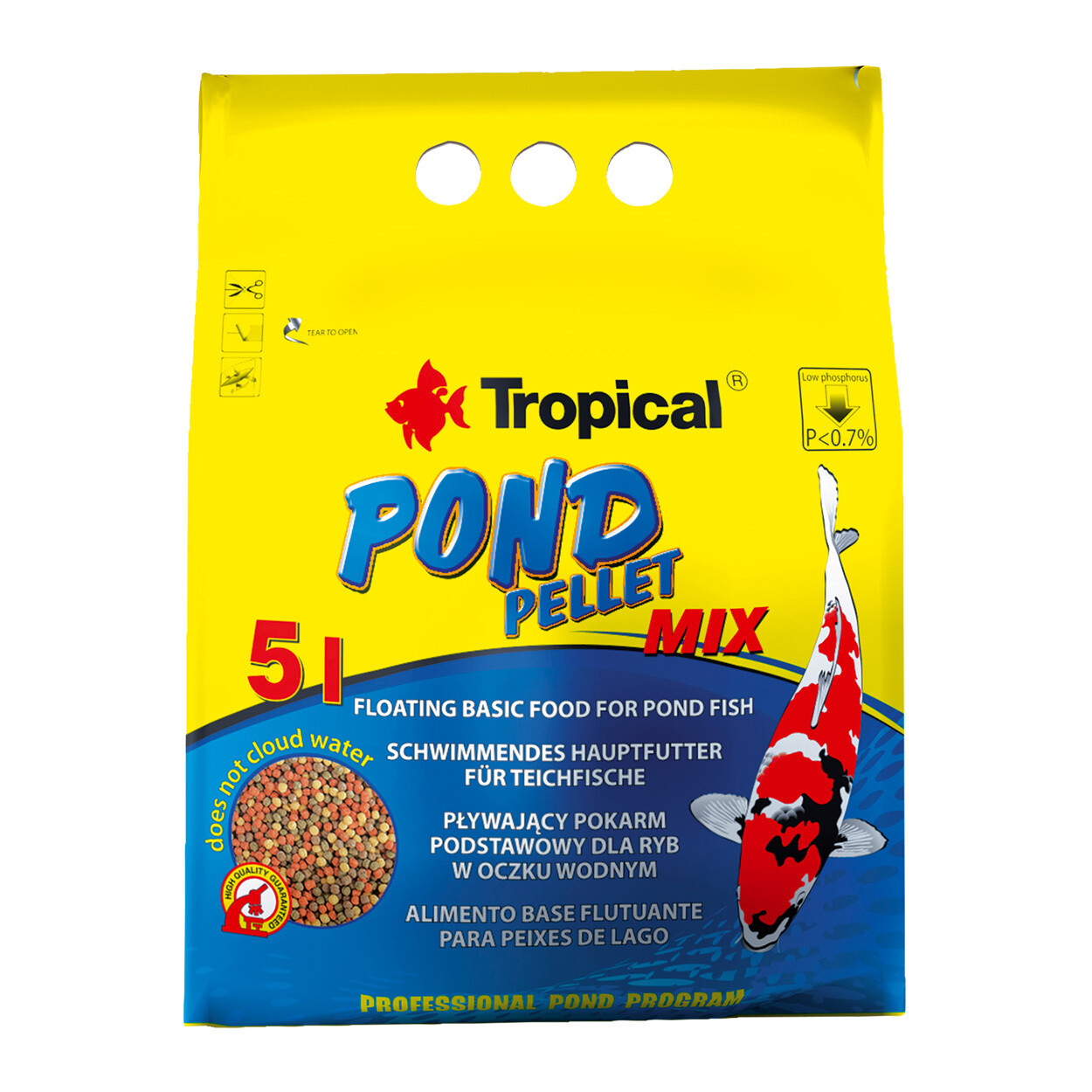 Tropical Pond Pellet Mix Small 650g