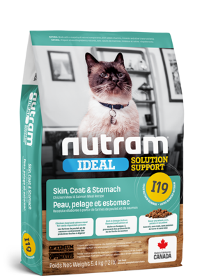 NUTRAM CAT I19 SENSITIVE SKIN, COAT & STOMACH 1.8KG