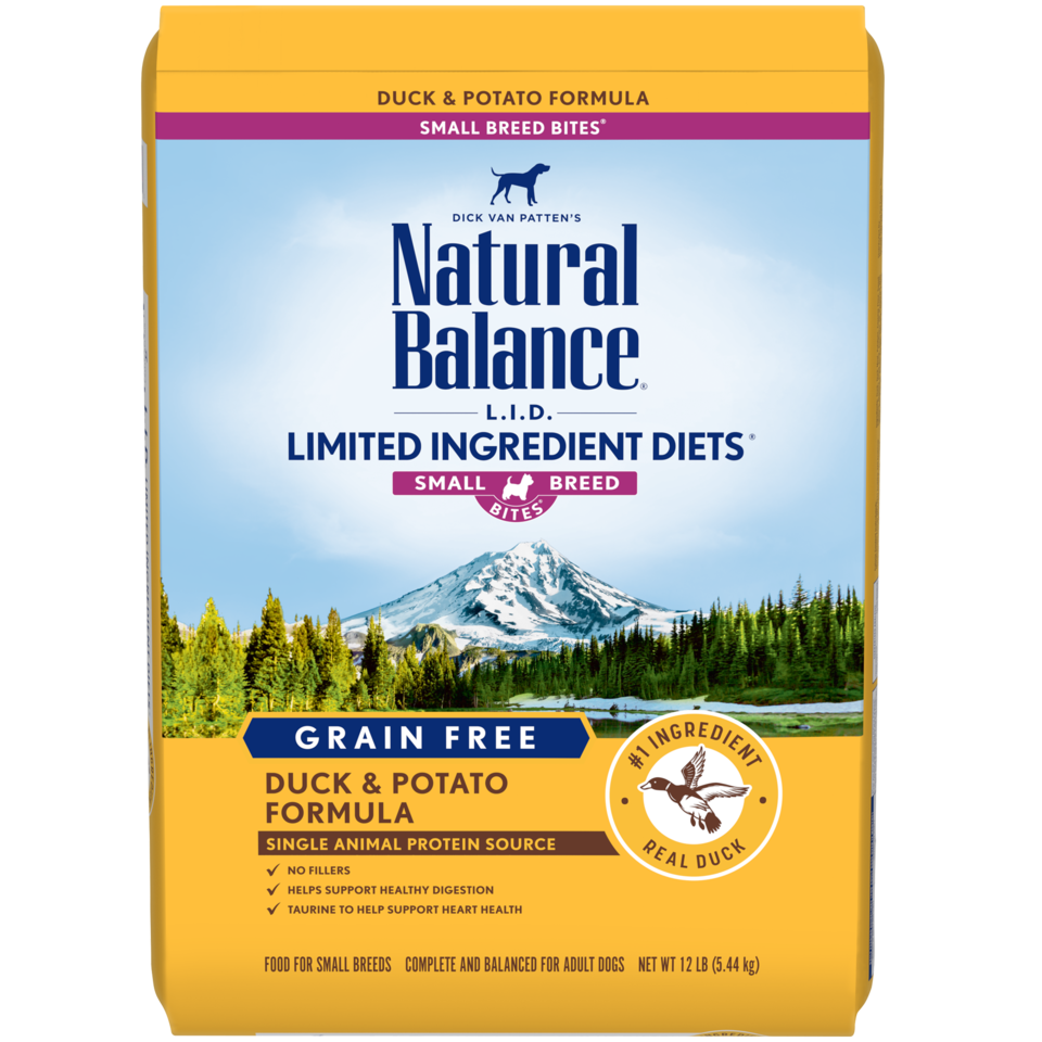 NATURAL BALANCE LID GRAIN FREE SMALL BREED DUCK & POTATO 12LB