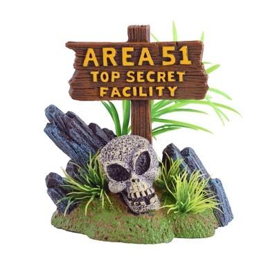Underwater Treasures Area 51 Sign