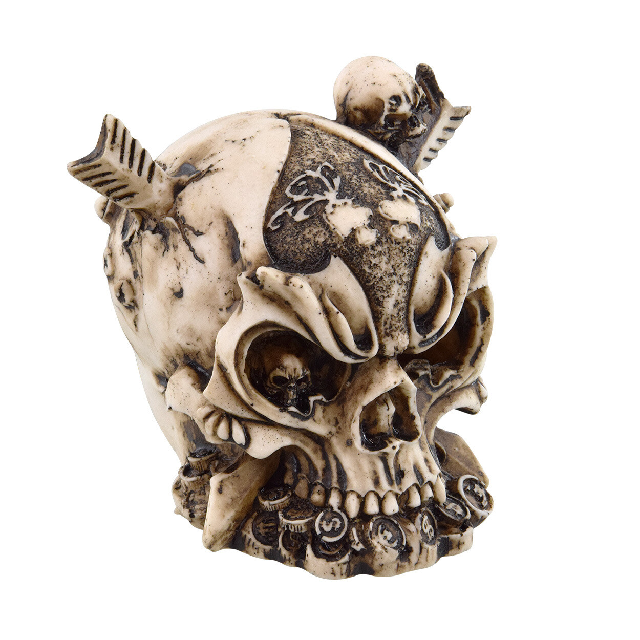 Underwater Treasures Warrior Skull