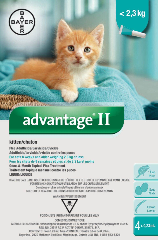 ADVANTAGE II FOR CATS & KITTENS UNDER 2.3KG