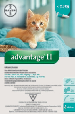 ADVANTAGE II FOR CATS & KITTENS UNDER 2.3KG