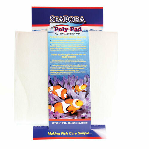 Seapora Poly Filter Pad 18 x 10  (White)