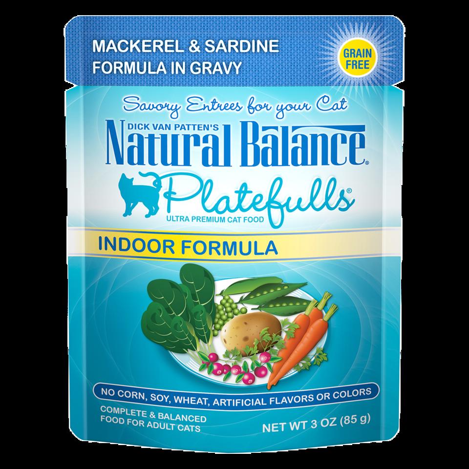 NATURAL BALANCE PLATEFULLS MACKEREL & SARDINE 3oz