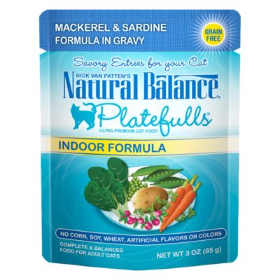 NATURAL BALANCE PLATEFULLS MACKEREL & SARDINE 3oz