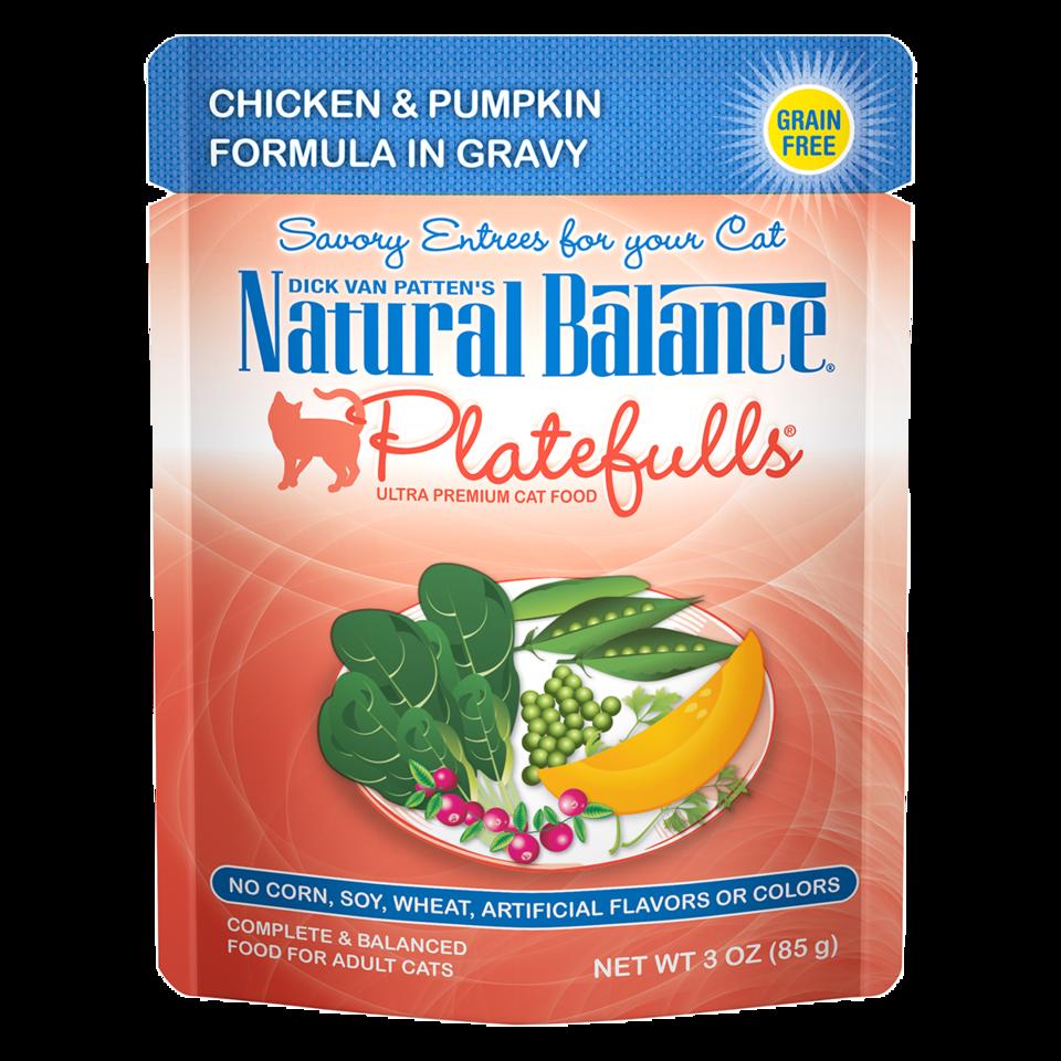 NATURAL BALANCE PLATEFULLS CHICKEN & PUMPKIN IN GRAVY 3OZ