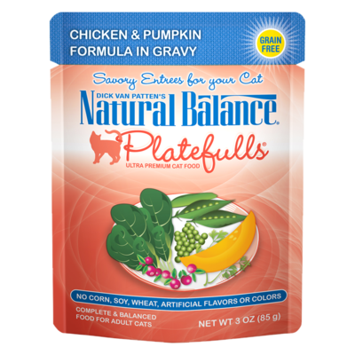 NATURAL BALANCE PLATEFULLS CHICKEN & PUMPKIN IN GRAVY 3OZ