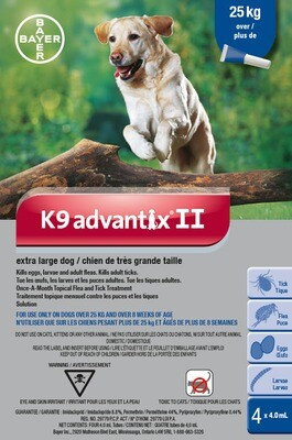 K9 ADVANTIX II FOR DOGS OVER 25KG