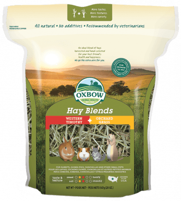 OXBOW HAY BLEND - WESTERN TIMOTHY & ORCHARD GRASS 40OZ