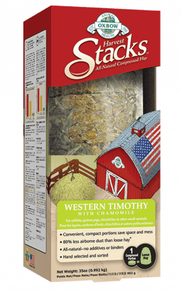 OXBOW HARVEST STACKS - WESTERN TIMOTHY WITH CHAMOMILE 35OZ