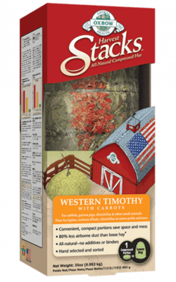 OXBOW HARVEST STACKS - WESTERN TIMOTHY WITH CARROT 35OZ