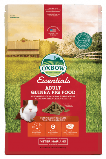OXBOW ESSENTIALS ADULT GUINEA PIG FOOD 5LB